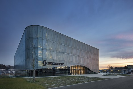 IttenBrechbühl Architects designs Scott Sports headquarters in Givisiez, Switzerland