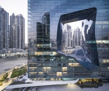 Zaha Hadid Architects ME Dubai hotel and The Opus in Dubai