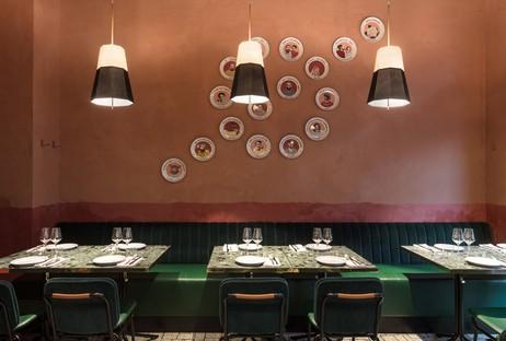 Vudafieri-Saverino Partners RØST interior design for a restaurant in Milan