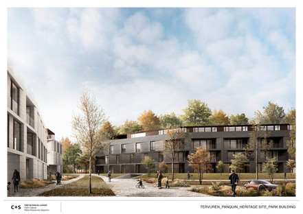 C+S Architects designs urban regeneration project of the former Royal Cavalry Barracks complex in Tervuren, Belgium