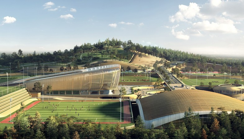 UNStudio's design for the Korean National Football Centre in Seoul comes out on top