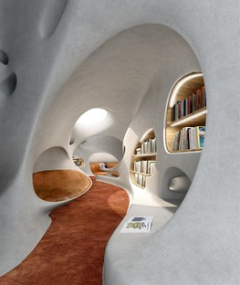 MAD Architects Wormhole Library, a dreamscape in Haikou