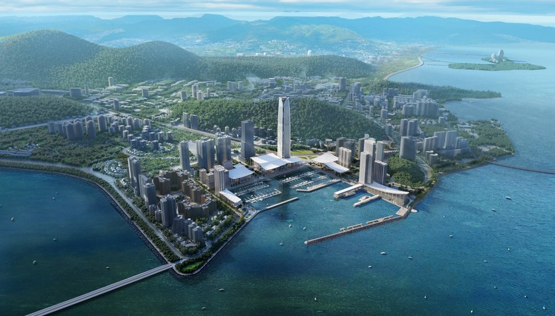 SOM designs Jiuzhou Bay, the new waterfront for Zhuhai in China