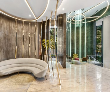 Iosa Ghini Associati interior design of the Brickell Flatiron in Miami