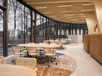 RAU Architects's cathedral of wood for Triodos Bank in Driebergen-Rijsenburg