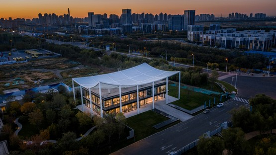 Powerhouse Company Paper Roof new civic centre in Tianjin