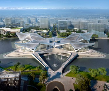 Zaha Hadid Architects Zhuhai Jinwan Civic Art Centre, China