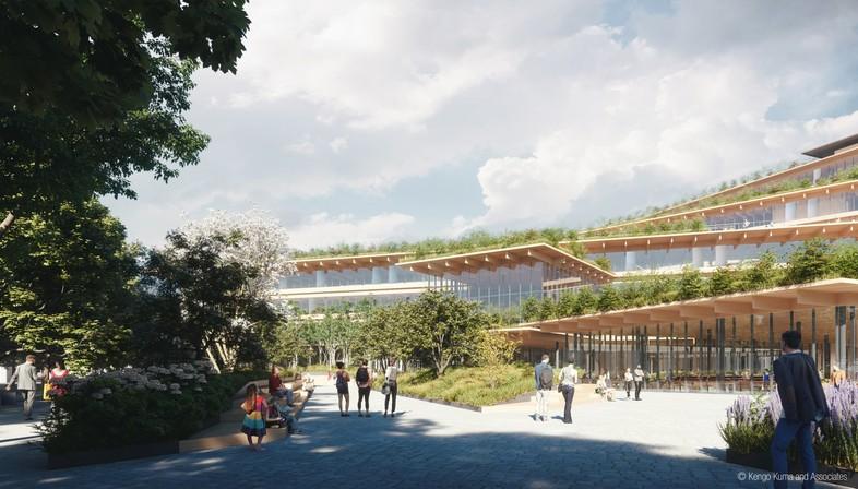 Kengo Kuma & Associates design the office of the future in Milan