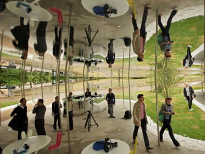 Serpentine Pavilion, London. SANAA's installation opens to the public