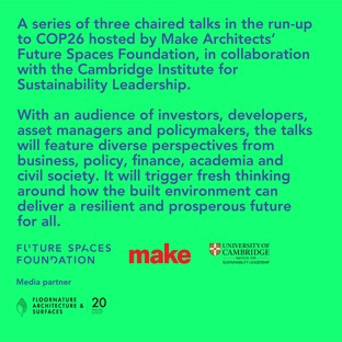 Floornature, media partner of the University of Cambridge Institute for Sustainability Leadership and of the Future Spaces Foundation