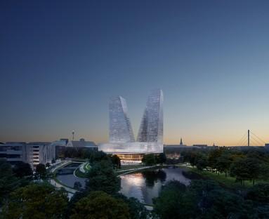 Snøhetta designs Duett Düsseldorf, a new cultural hub for Düsseldorf