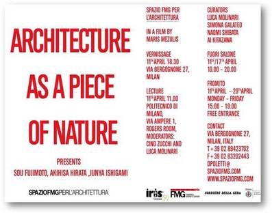 SpazioFMG presents Architecture as a Piece of Nature