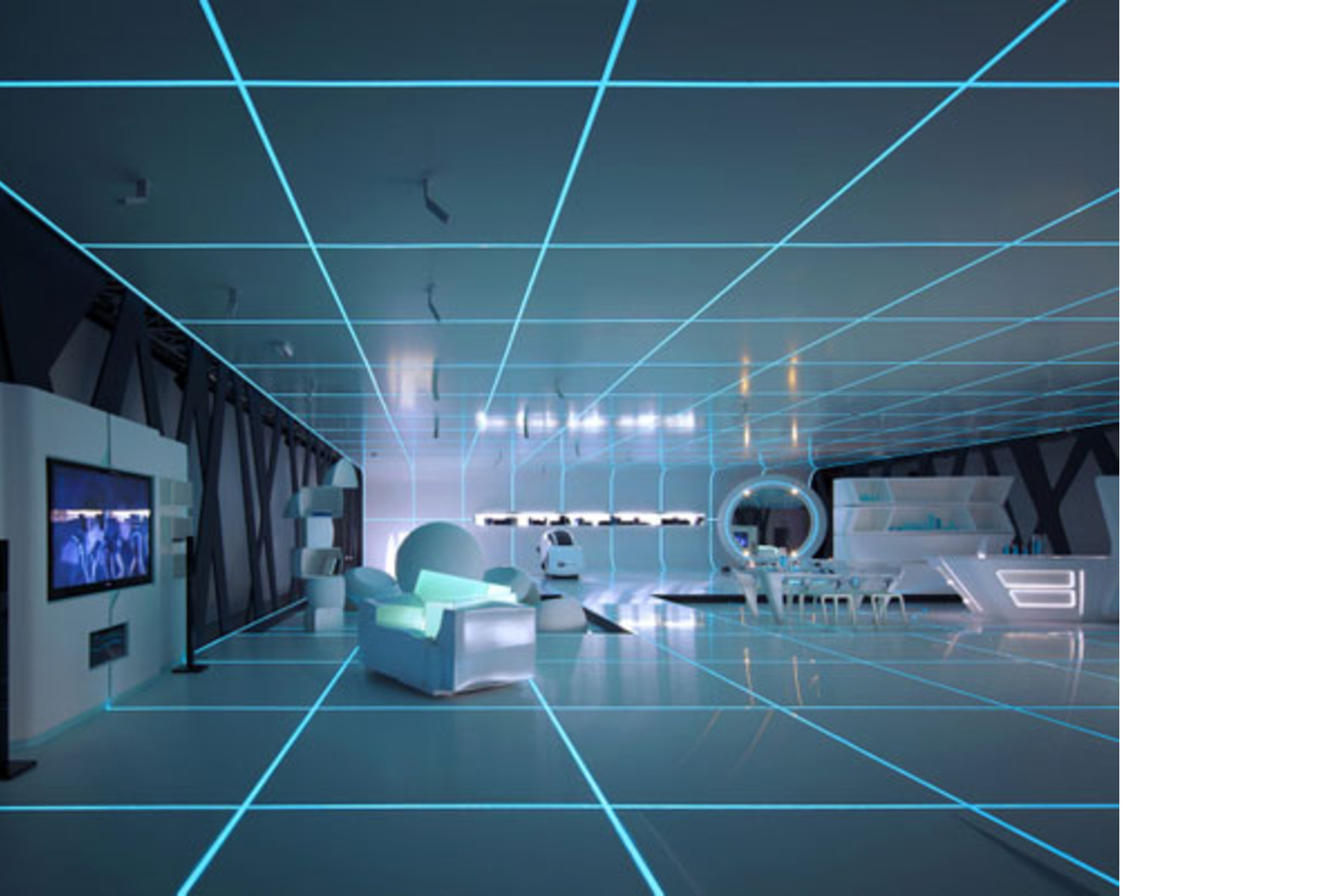 Dupont Corian 174 Exhibition Inspired By Tron Legacy