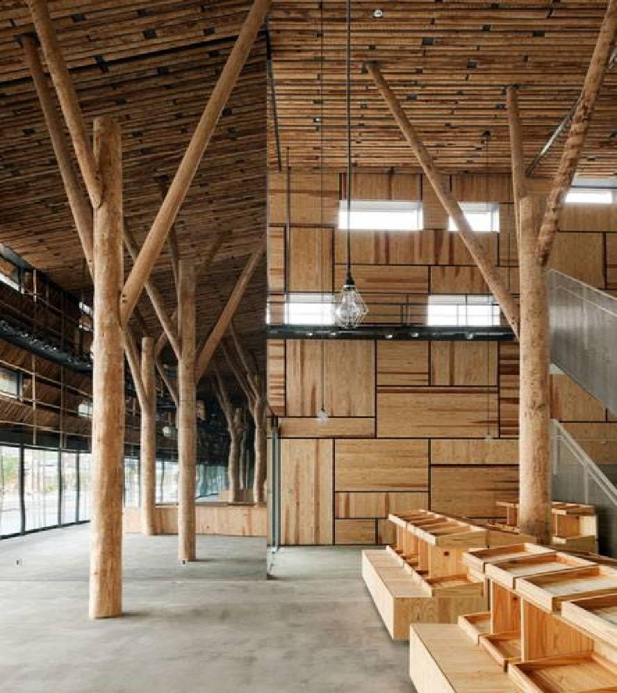 Kengo Kuma Yusuhara Marche Floornature