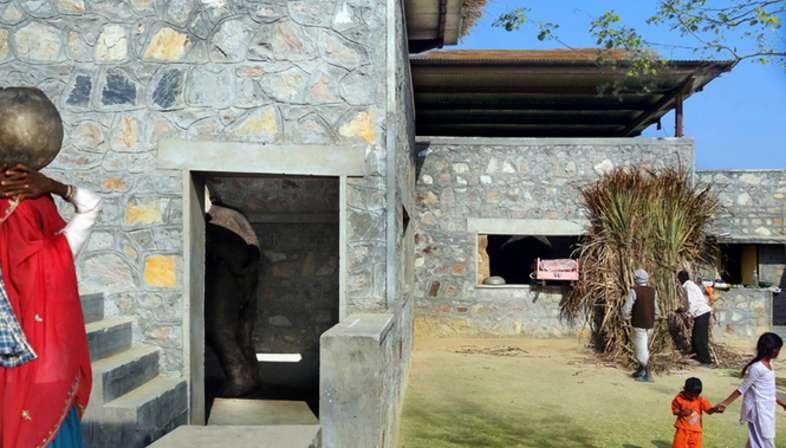 RMA Architects, Hathigaon housing for elephants and their caretakers