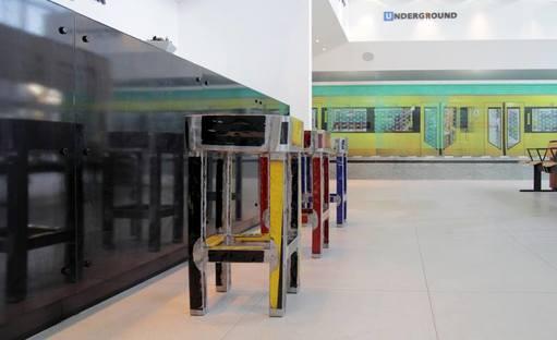 U-Bahn and ceramics on display