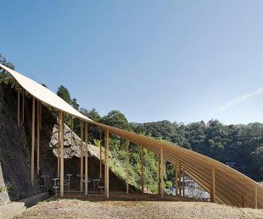 Nendo & Ryue Nishizawa, Roof and Mushrooms Pavilion, Kyoto