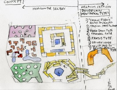 Dongguan drawing © Steven Holl Architects