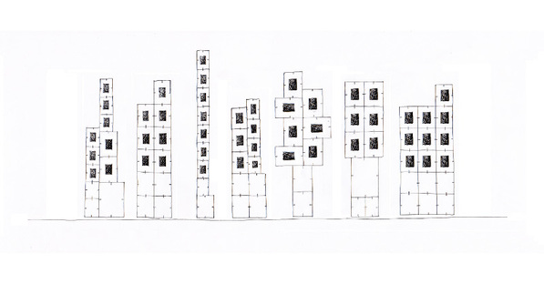 Sketch of the installation design by Paolo Ulian