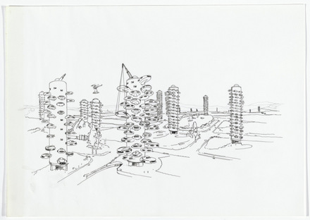 Daniel Grataloup Urban Proposal with Multiple Thin-shell Capsules. Project, 1970