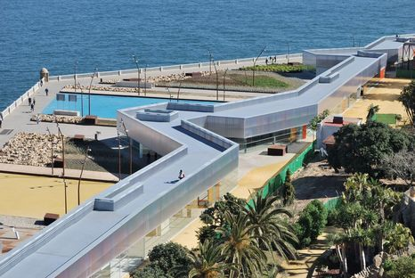 Panoramic viewpoint and defence structure in Park Genoves, Cadiz