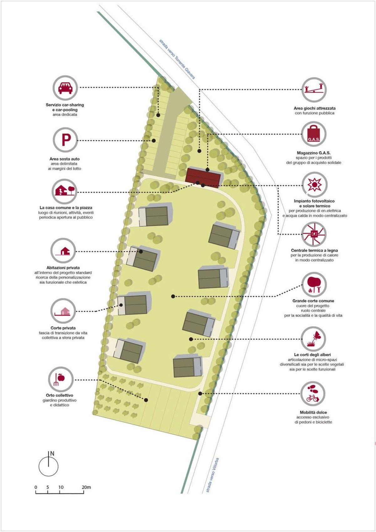 Quattro passi, Villorba, TAMassociati's ecological district