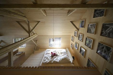 OFIS architects: Alpine barn tourist apartment in Bohinj, Slovenia