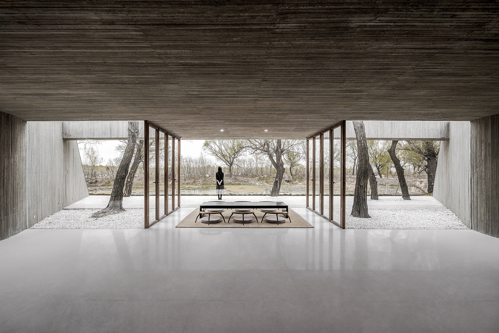 Archstudio: Buddhist temple on the river in Tangshan, China