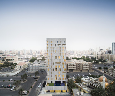 AGi Architects: Wafra Vertical Housing, wind tower in Salmiya