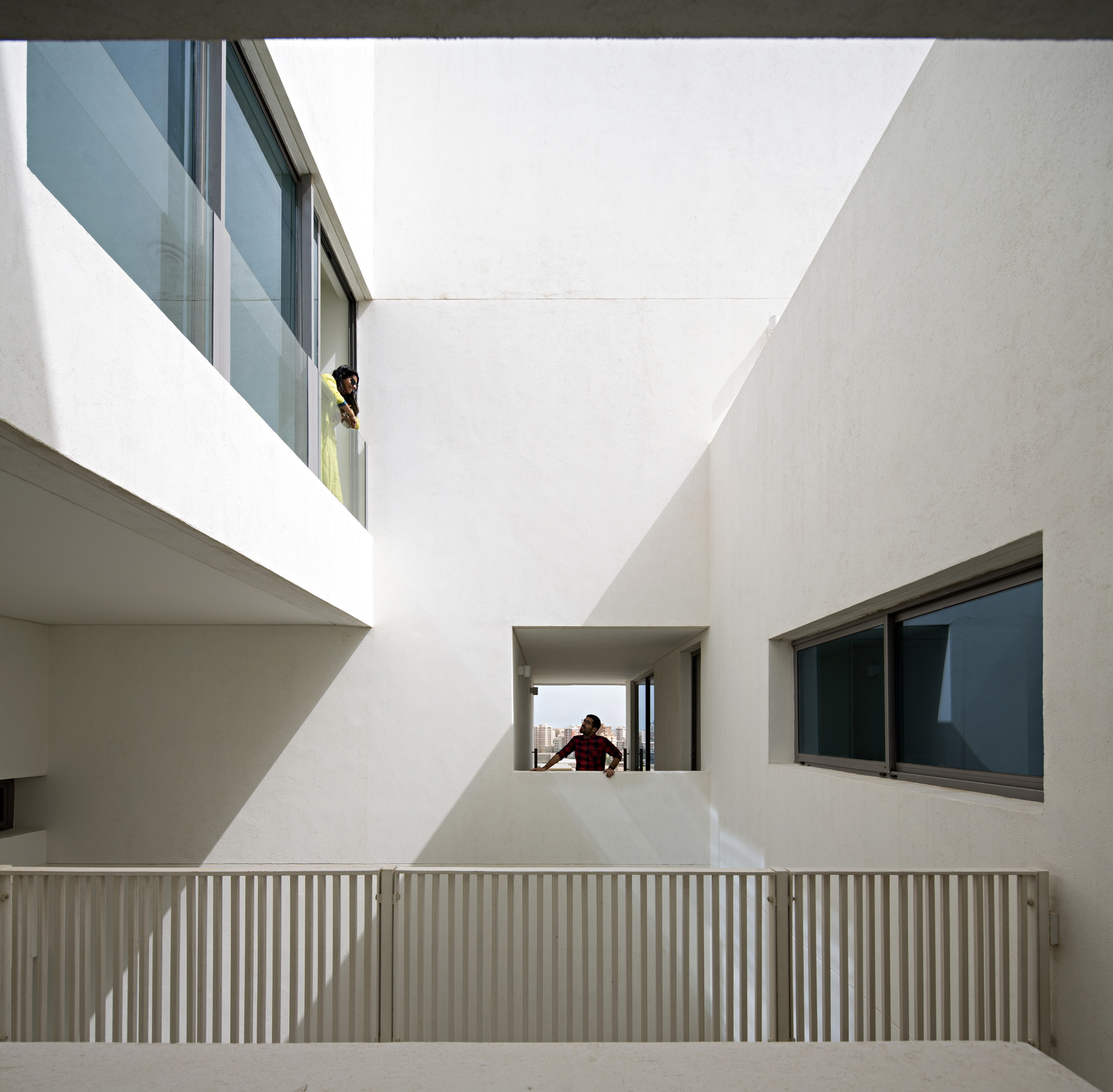 AGi Architects: Wafra Vertical Housing wind tower in Salmiya ...