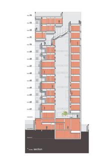 AGi Architects: Wafra Vertical Housing, wind tower in Salmiya