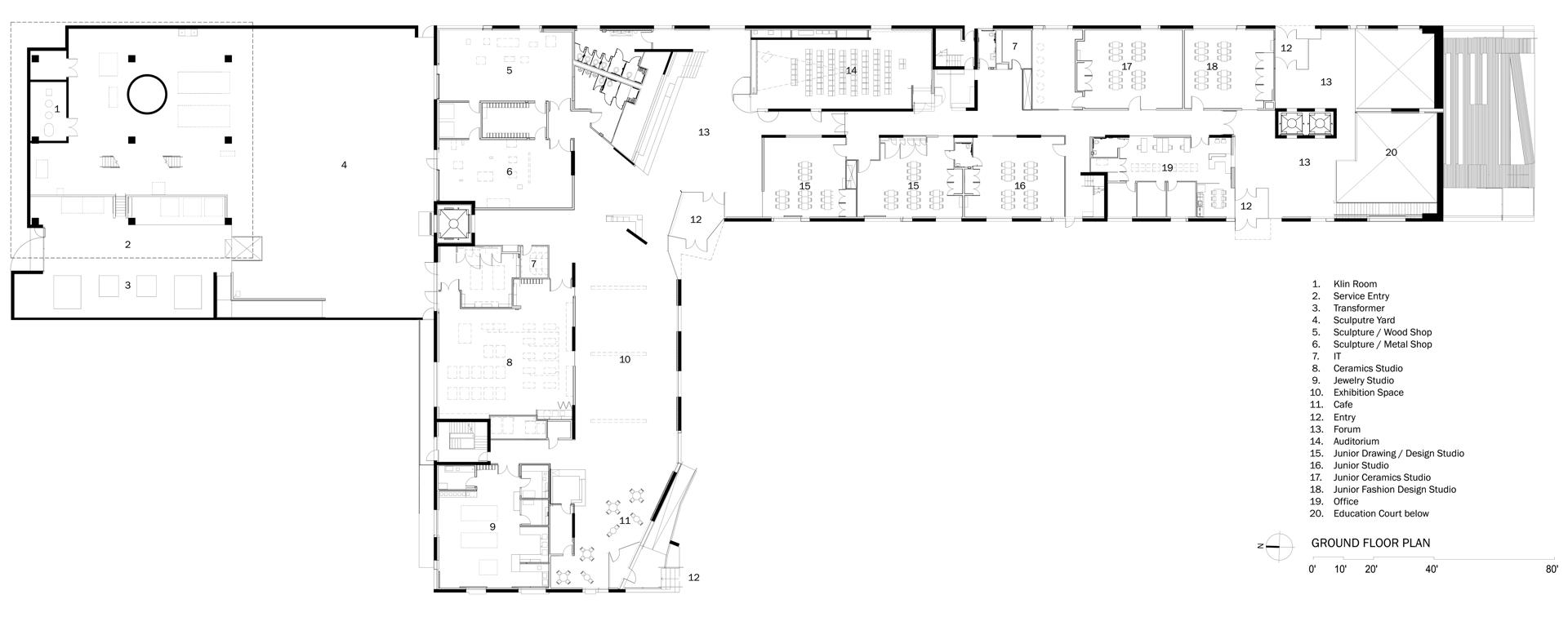 steven holl glassell school of art in houston floornature