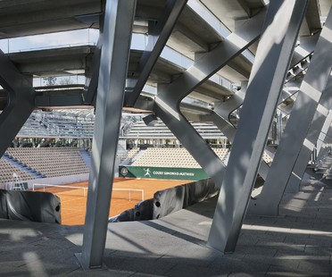 Marc Mimram has designed the new tennis court at Roland Garros in Paris