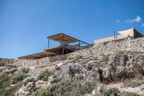 Paly Architects design a luxury residence above the sea in Livadia, Crete