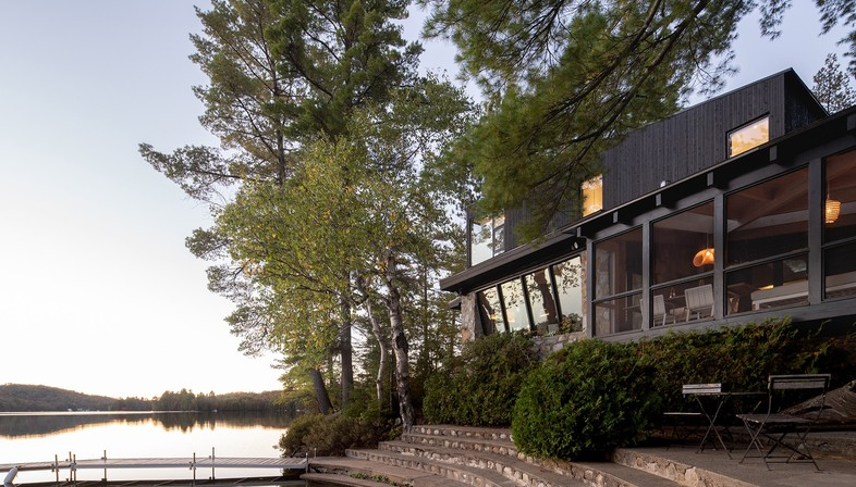 Paul Bernier's Cottage on the Point in Montreal, Canada