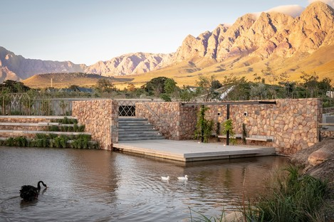The Garden Café designed by Steyn Studio for Bosjes, South Africa, in partnership with SquareOne, Meyers and Liam Mooney