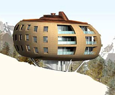 Foster & Partners:<br> Chesa Futura, Switzerland, 2000