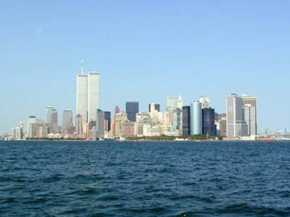 Twin Towers of the World Trade Center in New York