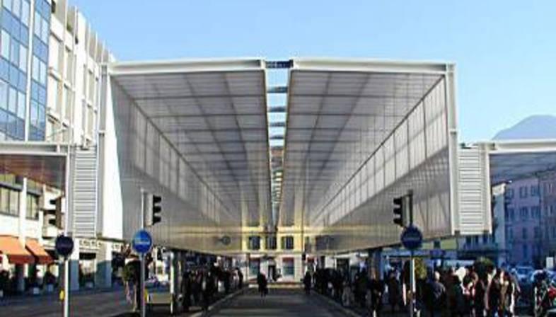 Mario Botta: TPL bus shelter, Lugano, 2002