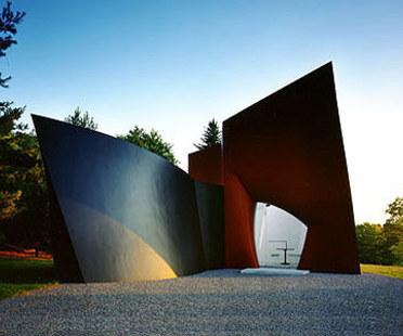 Philip Johnson: padiglione per visitatori, Connecticut
