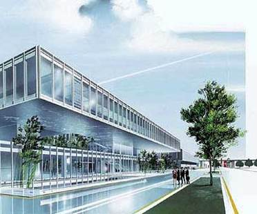 Maranello, two new buildings for Ferrari.<br> Fuksas and Visconti, 2004