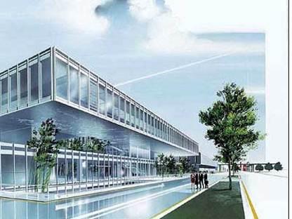 Maranello, two new buildings for Ferrari.<br> Fuksas and Visconti, 2004