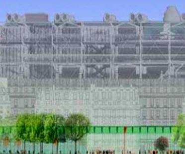 David Mangin. Les Halles. Parigi