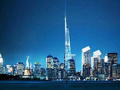 New York, Freedom Tower.<br> Daniel Libeskind and David Childs. 2005