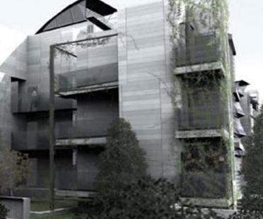 Rome, Ecological housing.<br> Marcello Marocco, Thomas Herzog. 2005