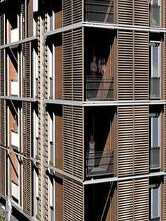 Rome, Ecological housing.<br> Marcello Marocco, Thomas Herzog. 2005