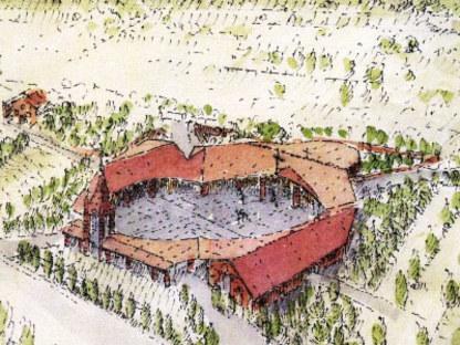 Santa Maria in Zivido Parish Centre. San Giuliano Milanese (Mi). Gabetti & Isola.<br />
