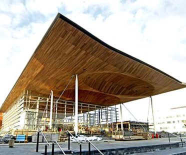 National Assembly for Wales <br> Richard Rogers PartnershipCardiff, under construction
