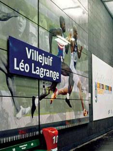 Villejuif Léo Lagrange metro station, Mario Cucinella.<br /> Paris, France. 2000