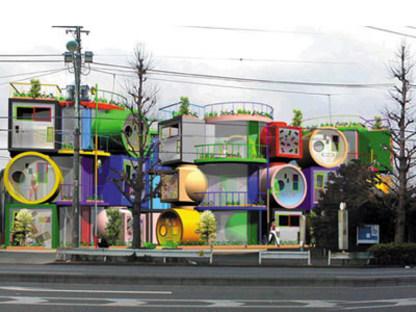 Reversible destiny lofts. Tokyo. Shusaku Arakawa and Madeline Gins. 2005